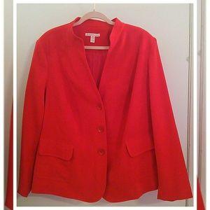 Red lined blazer